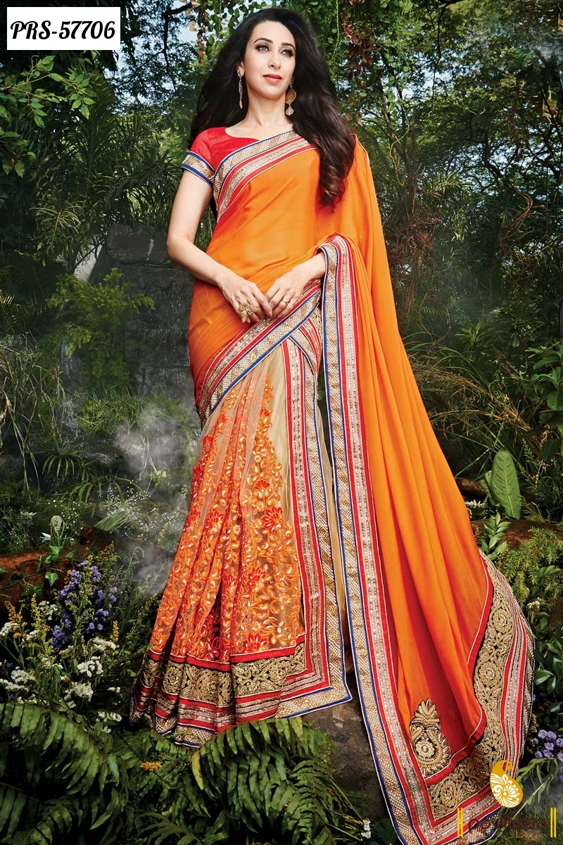 Latest Bollywood Party Wear Salwar Suits 2016 2017: Latest Fashion Trend Georgette Bollywood Sarees For Indian