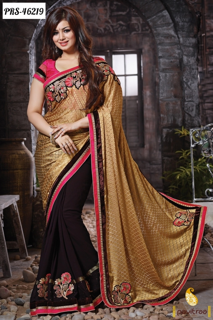Actress ayesha takia sarees online shopping bollywoodfashion for Luxury fashion online